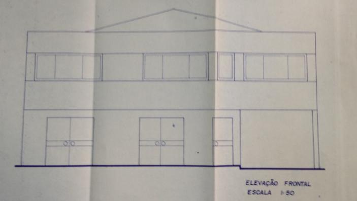 desenho fachada do predio